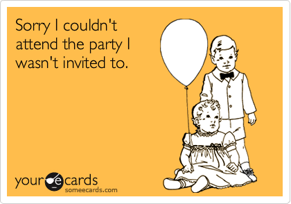 Sorry I couldn't