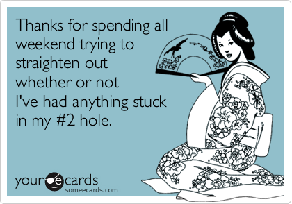 Thanks for spending all