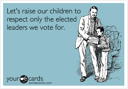 Let's raise our children to