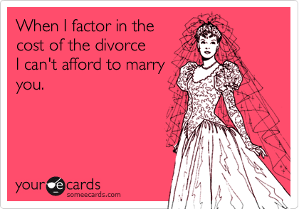 When I factor in the