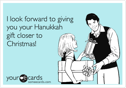 I look forward to giving