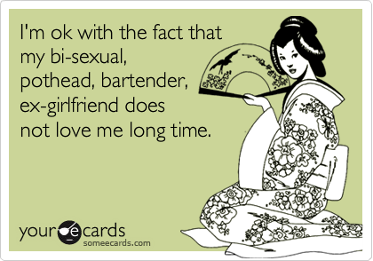 I'm ok with the fact that