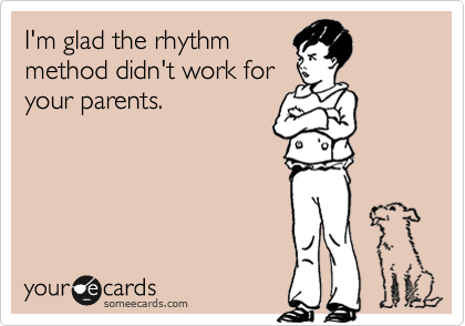 I'm glad the rhythm