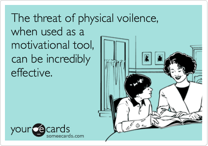The threat of physical voilence, when used as a