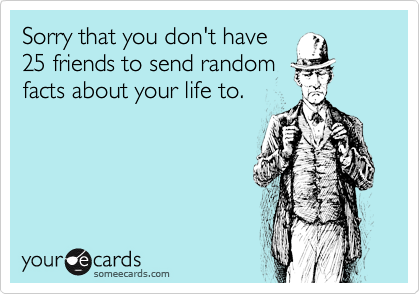 Sorry that you don't have