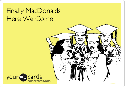 Finally MacDonalds