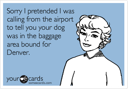 Sorry I pretended I was