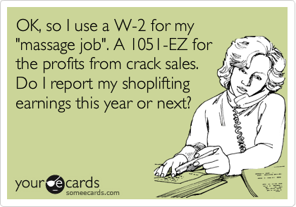 OK, so I use a W-2 for my