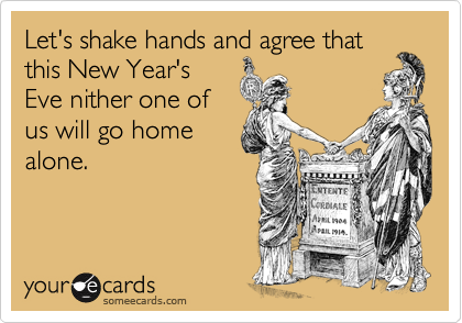 Let's shake hands and agree that