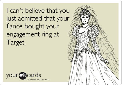 I can't believe that you