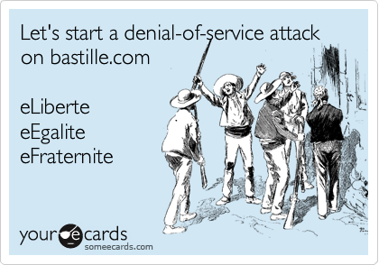Let's start a denial-of-service attack on bastille.com