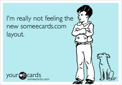 I'm really not feeling the