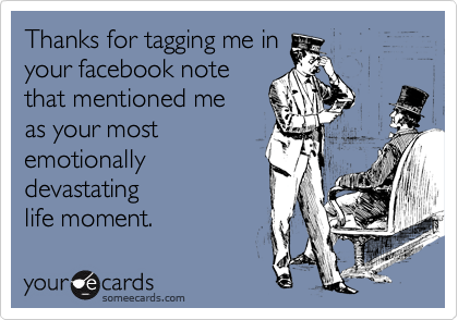 Thanks for tagging me in