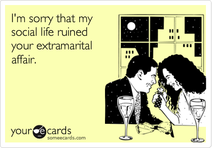I'm sorry that my