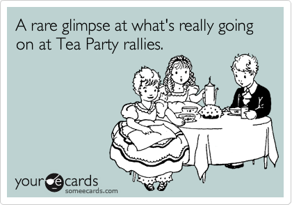A rare glimpse at what's really going on at Tea Party rallies.