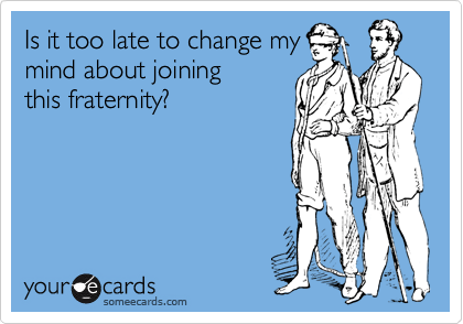 Is it too late to change my