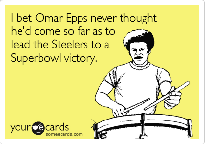 I bet Omar Epps never thought he'd come so far as to
