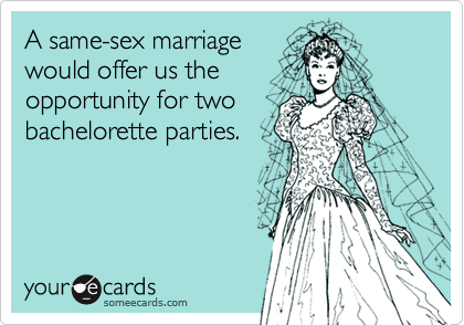 A same-sex marriage