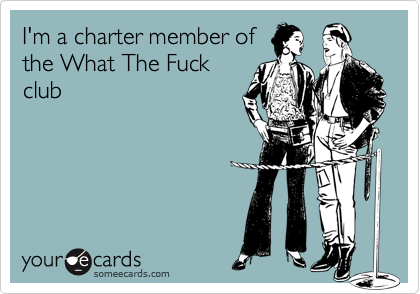 I'm a charter member of