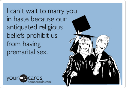 I can't wait to marry you