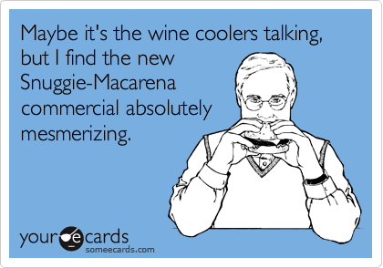Maybe it's the wine coolers talking,   but I find the new    Snuggie-Macarena  commercial absolutely mesmerizing.