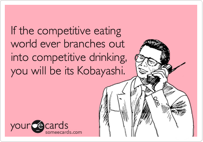 If the competitive eating 