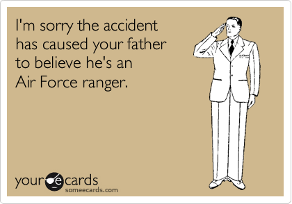 I'm sorry the accident