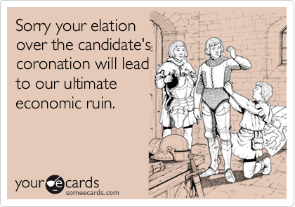 Sorry your elation