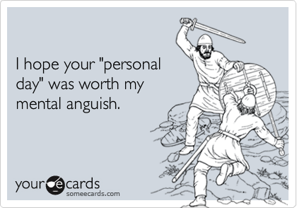 "I hope your ""personal