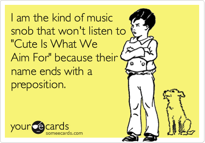 I am the kind of music