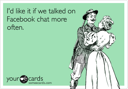 I'd like it if we talked on