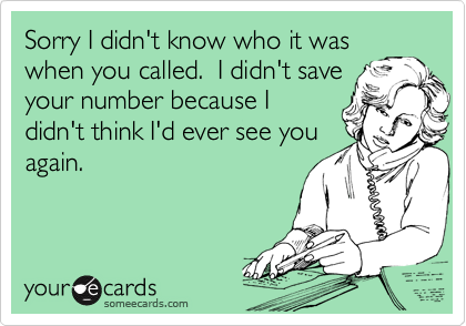 Sorry I didn't know who it was