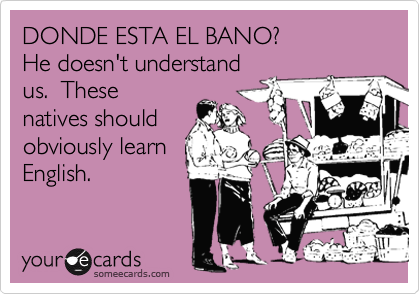 DONDE ESTA EL BANO?