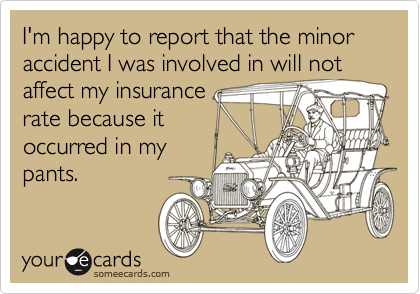 I'm happy to report that the minor accident I was involved in will not affect my insurance