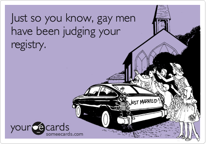 Just so you know, gay men