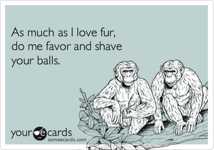 As much as I love fur, 