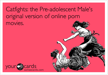 Catfights: the Pre-adolescent Male's original version of online porn movies.