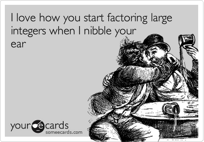I love how you start factoring large integers when I nibble your ear