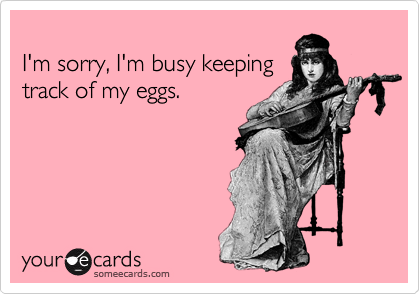 I'm sorry, I'm busy keeping