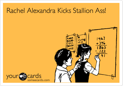 Rachel Alexandra Kicks Stallion Ass!