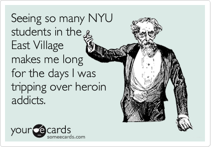 Seeing so many NYU 