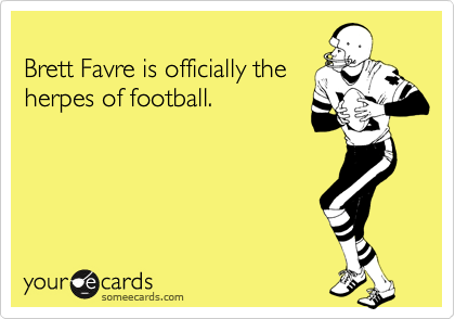 Brett Favre is officially the