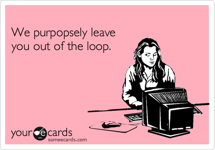 We purpopsely leave