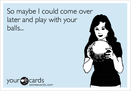 So maybe I could come over