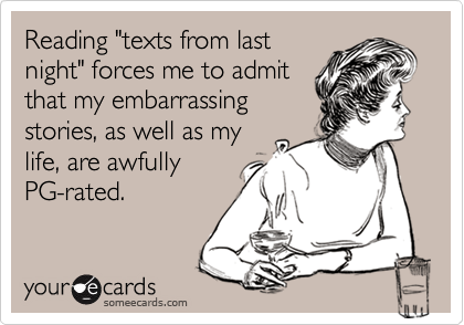"Reading ""texts from last