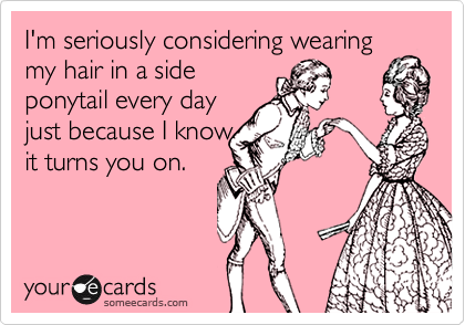 I'm seriously considering wearing my hair in a side 