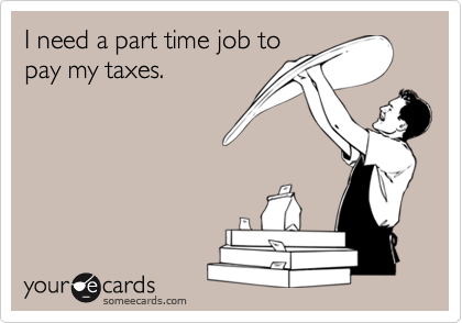 I need a part time job to