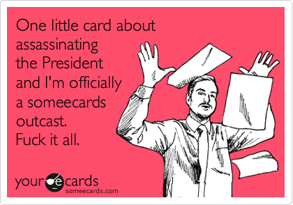 One little card about