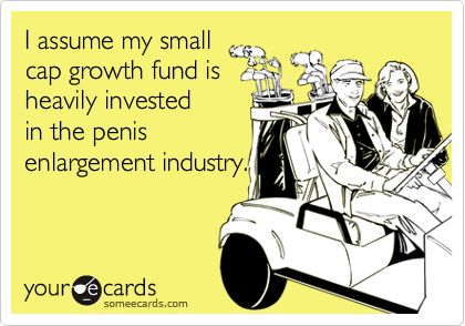 I assume my smallcap growth fund isheavily invested in the penisenlargement industry.