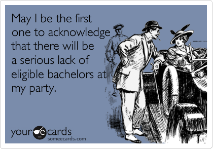 May I be the first